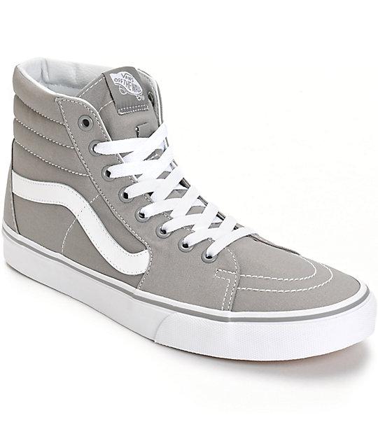 vans sk8 hi grey white