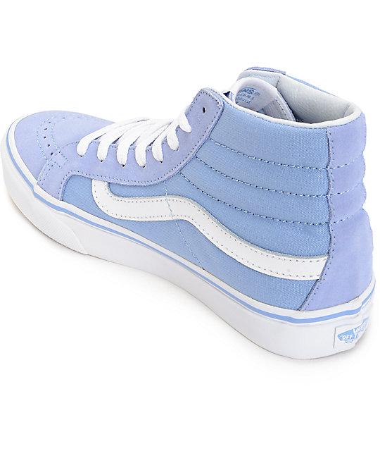 e988ef508a ... Vans Sk8 Hi Slim Bel Air Blue   White Shoes ...