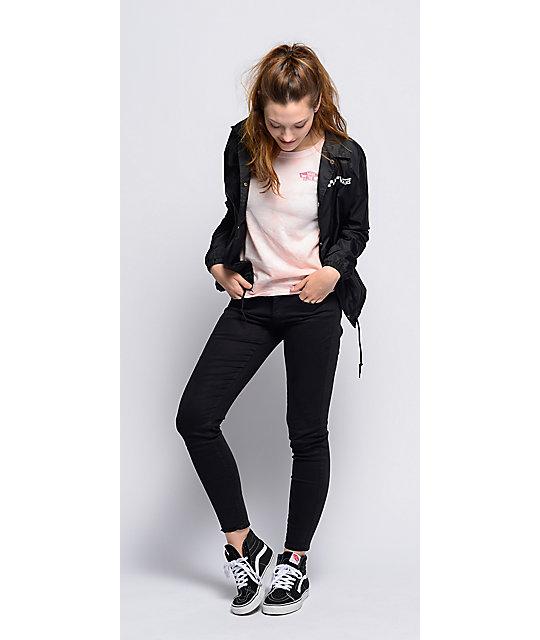 ... Vans Sk8-Hi Slim Black & True White Shoes ...