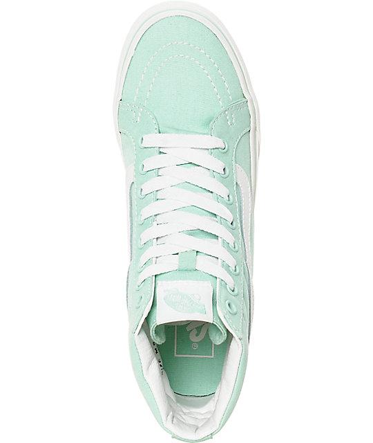 30b3ec2a58 ... Vans Sk8-Hi Slim Gossamer Green Shoes ...