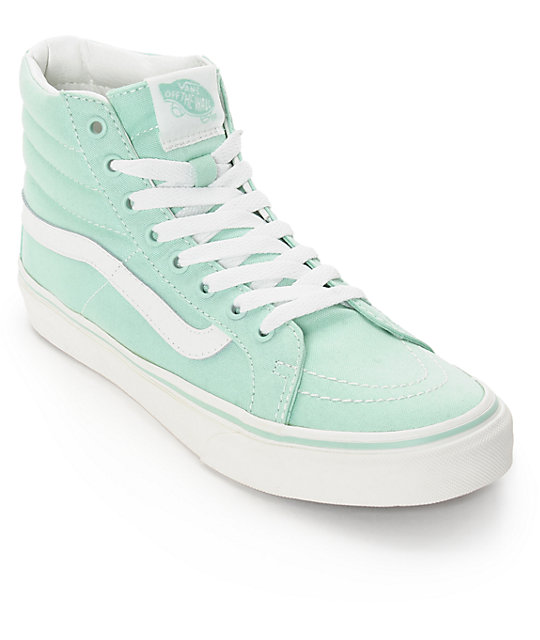 bcfe5d75fde9b4 Vans Sk8-Hi Slim Gossamer Green Shoes