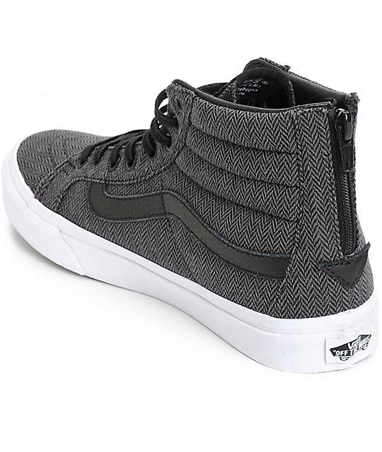 c89af360311 ... Vans Sk8-Hi Slim Herringbone Tweed Shoes ...