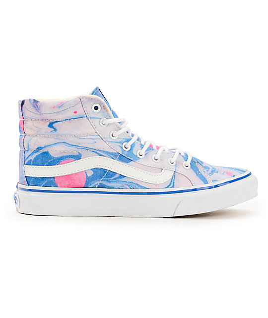 f7bdd5376b ... Vans Sk8-Hi Slim Marble   True White Womens Shoes