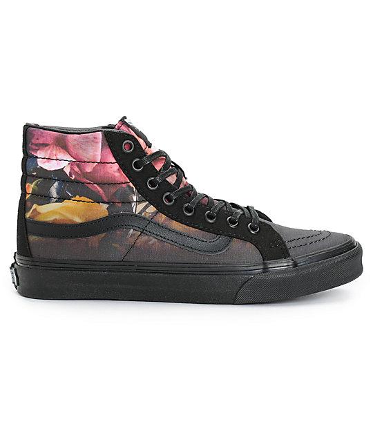 555b38843cb338 ... Vans Sk8-Hi Slim Ombre Floral Shoes