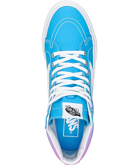 7c5244874b ... Vans Sk8-Hi Slim Ombre Hawaiian Ocean Shoes ...