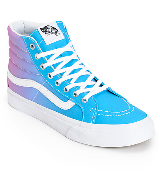 ed031a6bf5 Vans Sk8-Hi Slim Ombre Hawaiian Ocean Shoes