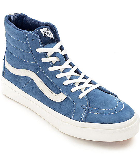 588ab76531 Vans Sk8-Hi Slim Scotchgard Navy Shoes