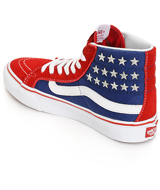 c7ac659c0d ... Vans Sk8-Hi Slim Studded Star Shoes ...