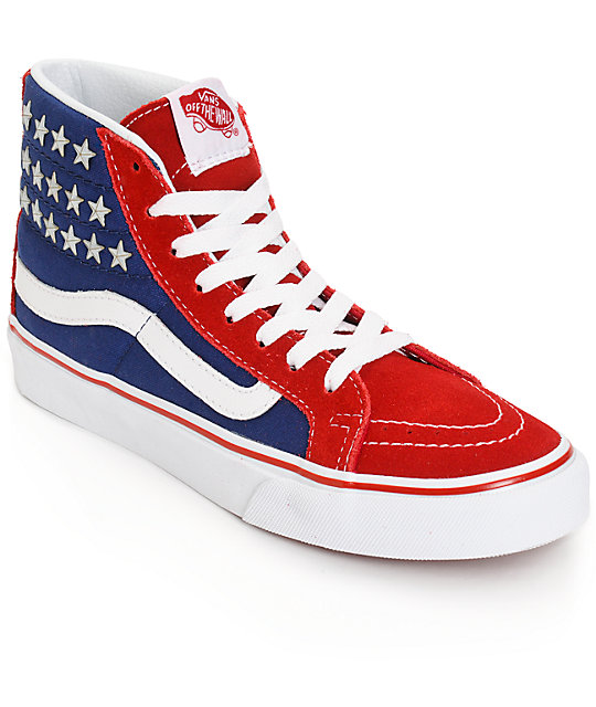 ad019f546d Vans Sk8-Hi Slim Studded Star Shoes