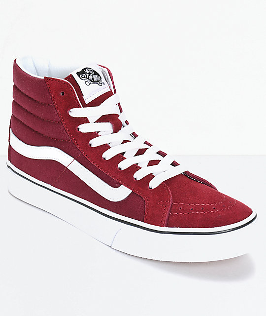 97afcf85a8 Vans Sk8-Hi Slim Windsor Wine Shoes