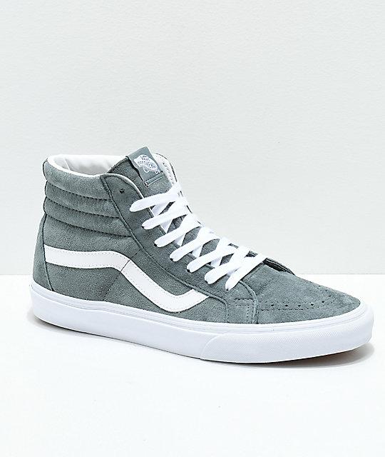 2fc4d5461fb9 Vans Sk8-Hi Stormy Grey Skate Shoes