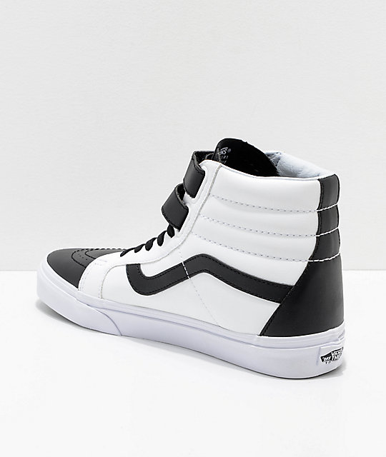 Vans Sk8-Hi Tumble Reissue V Black & White Skate Shoes