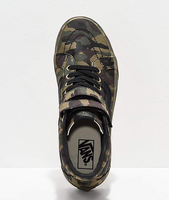 44460086bd7776 ... Vans Sk8-Hi Tumble Reissue V Green Camo Skate Shoes ...