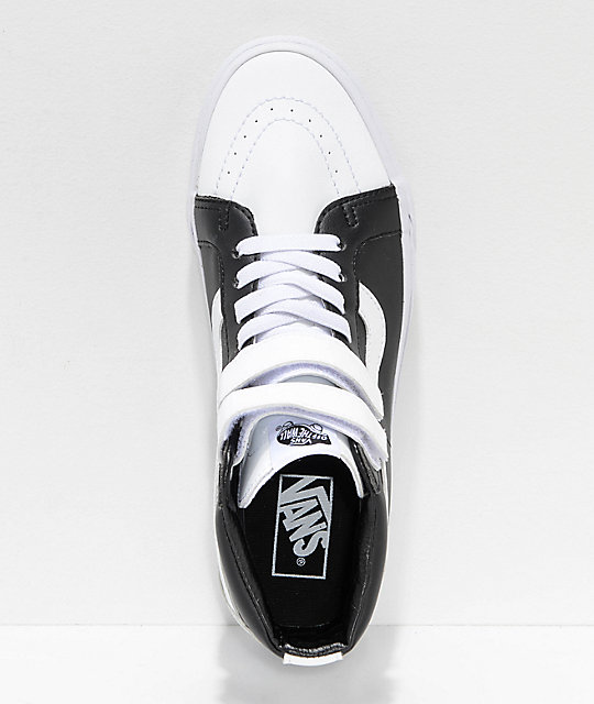 Vans Sk8-Hi Tumble Reissue V White & Black Skate Shoes