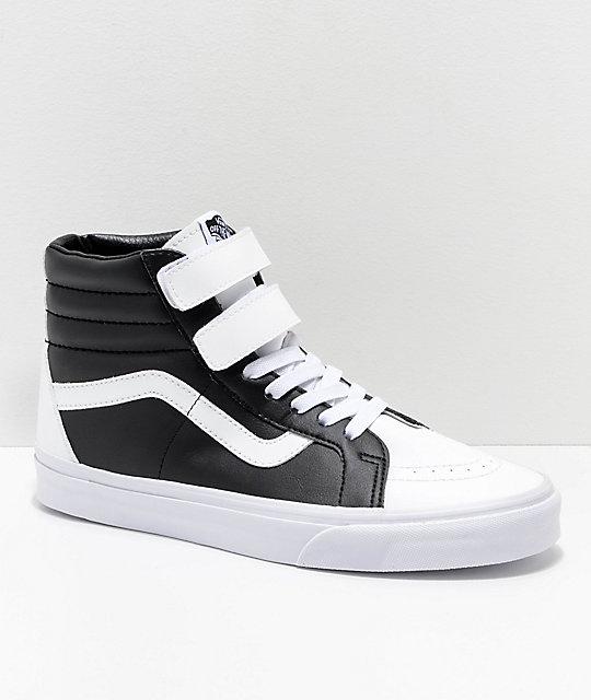 806279641bd2b Vans Sk8-Hi Tumble Reissue V White & Black Skate Shoes