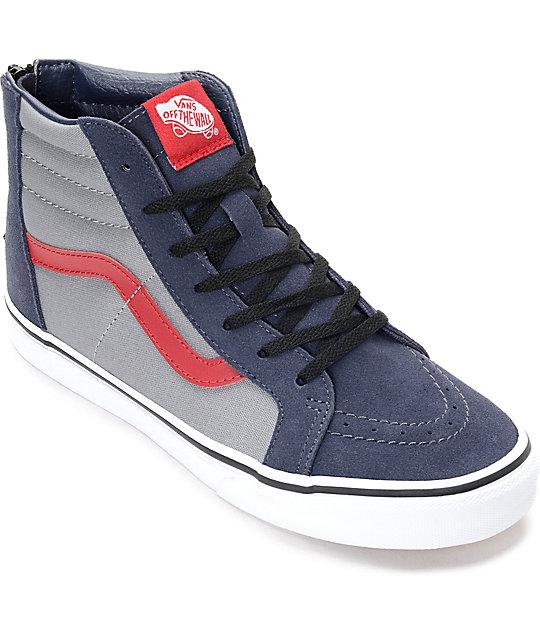 cfc4e9f24e Vans Sk8 Hi Zip Parisian Kids Skate Shoes