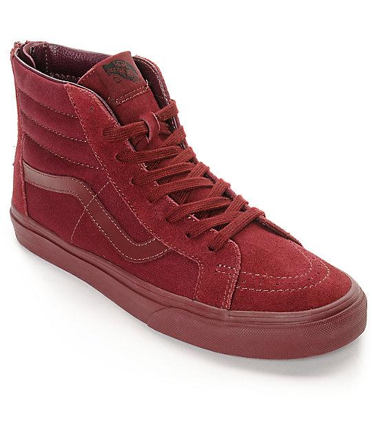 682a293d6e Vans Sk8-Hi Zip Port Royale Mono Skate Shoes
