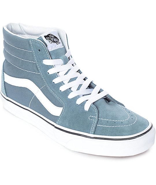 vans gris y azul