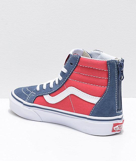 Zapatos azules Vans SK8-Hi para bebé jucaV6RA