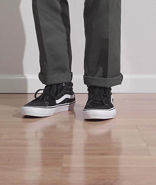 Vans Sk8-Mid Pro Black & White Skate Shoes | Zumiez