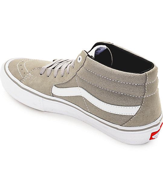 58a16e1bbdd72d ... Vans Sk8-Mid Pro Drizzle Grey   White Skate Shoes ...