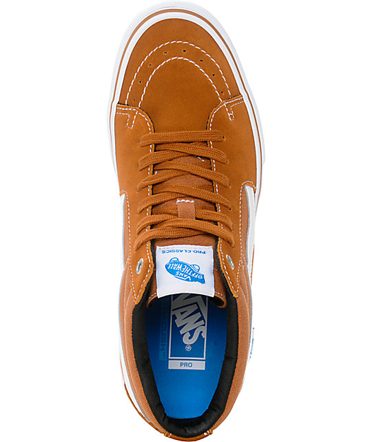 Vans Sk8-Mid Pro Glazed Ginger Skate Shoes