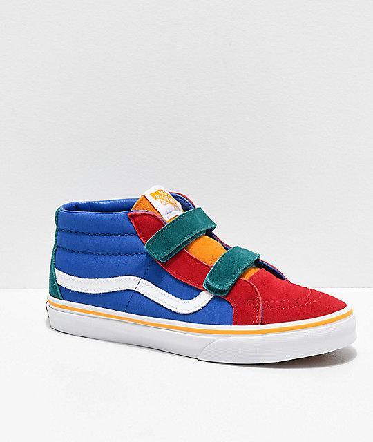 4e7a7b7d Vans Sk8-Mid Reissue V Primary Block Skate Shoes