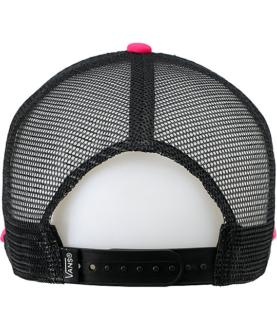 15020f5900c ... Vans Skimmer Black   Pink Trucker Hat