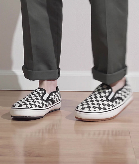 Vans Slip-Er Black & White Checkerboard Slippers | Zumiez