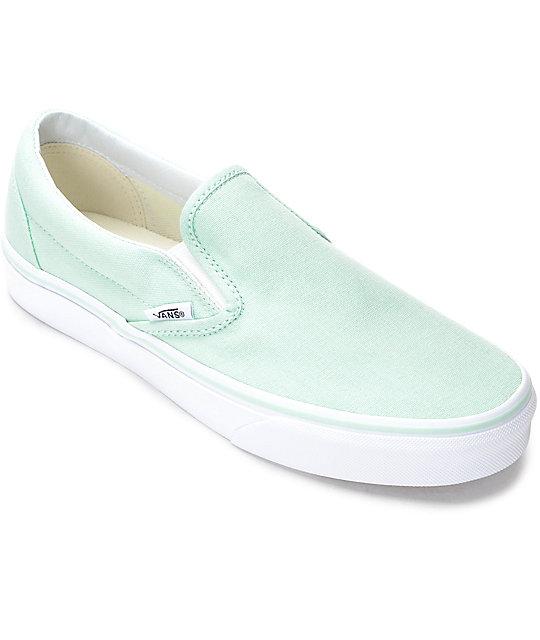 43b7981dd3157b Vans Slip-On Bay   White Canvas Shoes