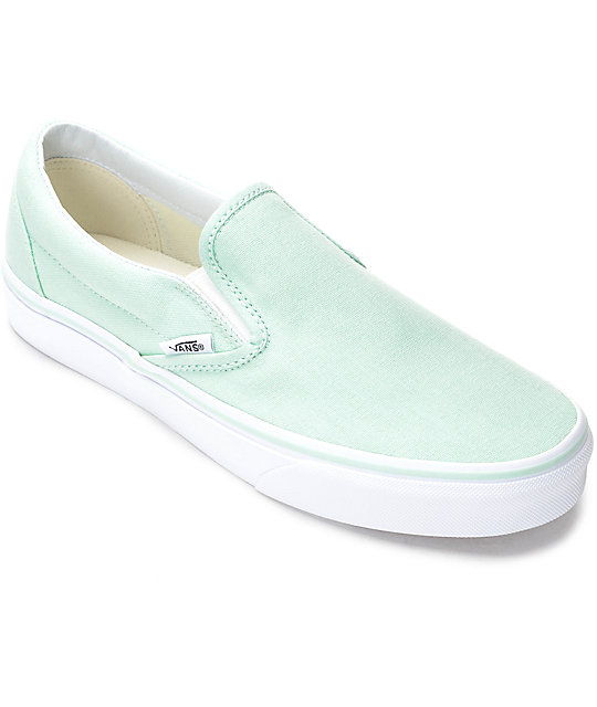 0eb0e4a5 Vans Slip-On Bay & White Canvas Shoes