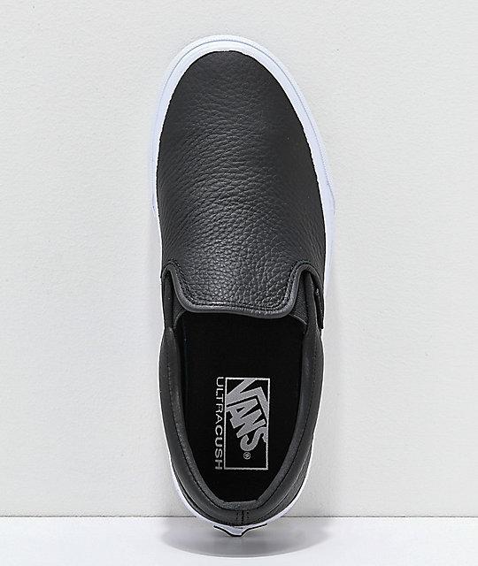 vans slip on leather