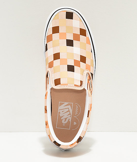 Vans Slip-On Breast Cancer Awareness Checkerboard Skate Shoes
