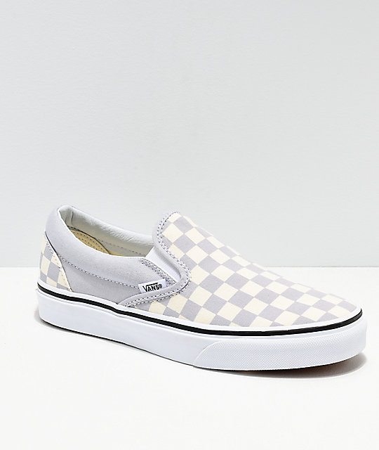 e51aaba6dda Vans Slip On Checkerboard Grey