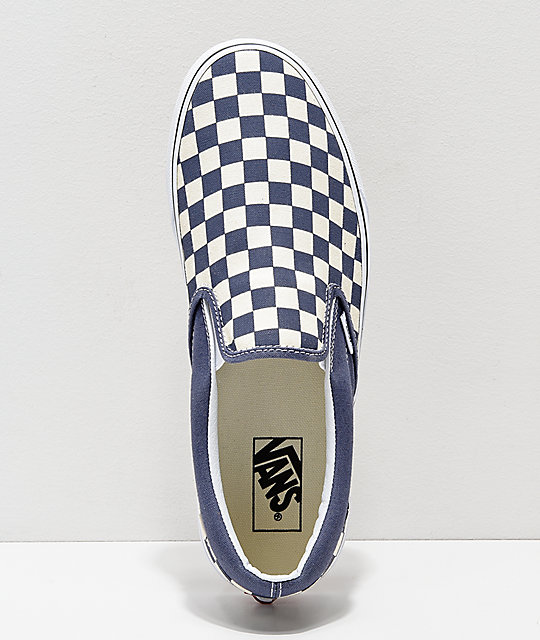 ... Vans Slip On Checkerboard Grisaille   White Shoes ... 84a2d59ea