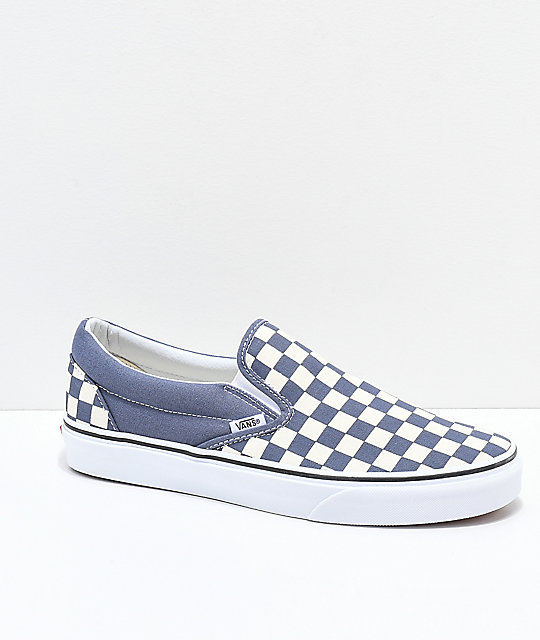 Vans Slip On Checkerboard Grisaille   White Shoes  77c5a2cd3