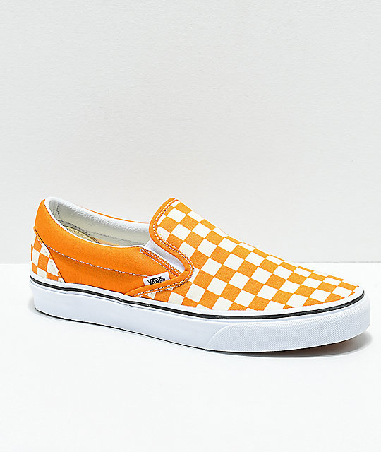 Vans Slip-On Cheddar   White Checkerboard Skate Shoes  7e8e7aed9
