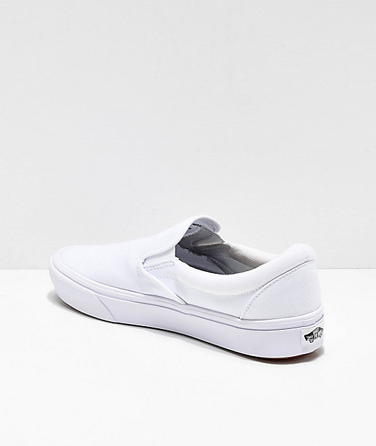 Vans Slip-On Comfy Cush White Skate Shoes