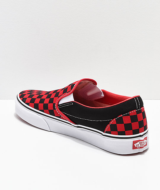 Vans Slip-On Formula Red zapatos de skate de cuadros