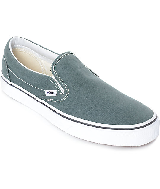 6947232306ea Vans Slip-On Goblin Blue-Grey   White Skate Shoes