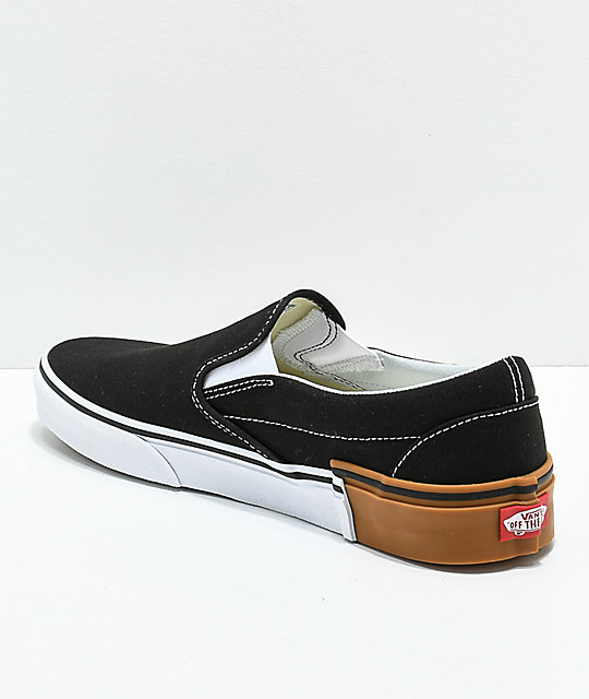 Vans Slip-On Gum Block zapatos de skate negros