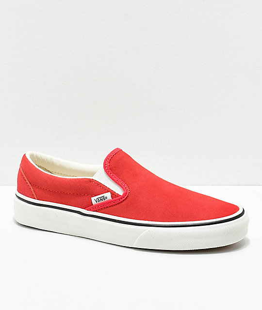 9ee3264a8a7f Vans Slip-On Hibiscus Suede Skate Shoes