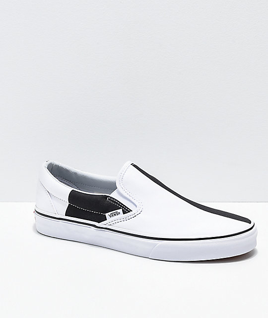 f49b8106c0 Vans Slip-On Mega Checker Black   White Skate Shoes