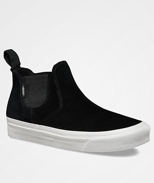 vans leather slip on mid dx