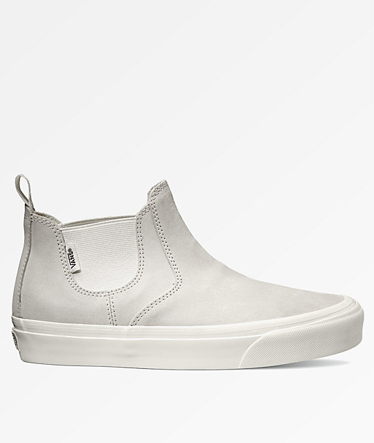 vans leather slip on mid dx