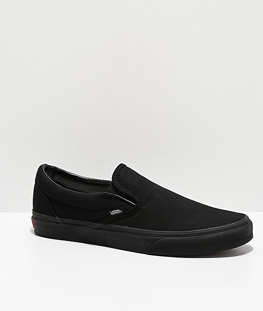 80906f6f0e45 Vans Slip-On Monochromatic Black Skate Shoes