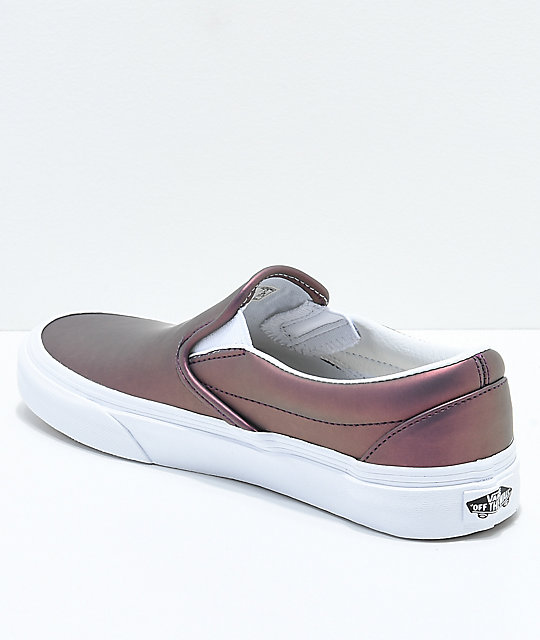 Vans Slip-On Muted Metallic Red Skate Shoes