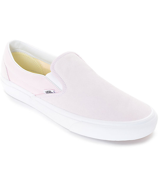 Vans Slip-On Pastel Pink Skate Shoes