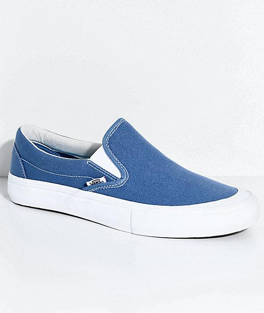 Vans Slip On Pro Allen Navy & White Skate Shoes
