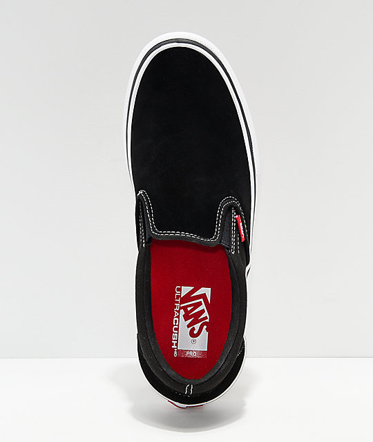 Vans Slip-On Pro Black & White Gum Skate Shoes